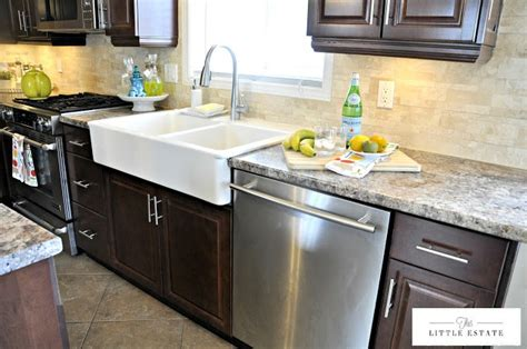 farmhouse sink with laminate countertops pin by katie ford on kitchen makeover pinterest