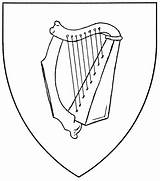 Harp Drawing Coloring Celtic Ireland Zither Template Symbol Pages Getdrawings Sketch sketch template