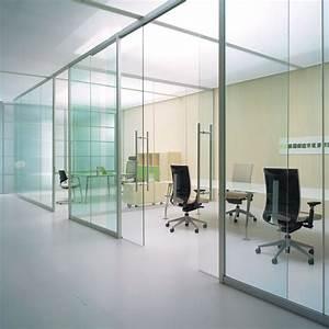 Cloison Acoustique Bureau : cloison de bureau vitr e bord bord espace cloisons alu ~ Premium-room.com Idées de Décoration