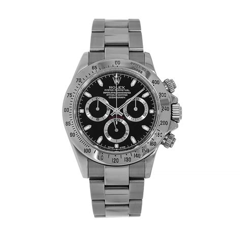 Rolex Cosmograph Daytona Stainless-Steel Black Dial 40MM ...