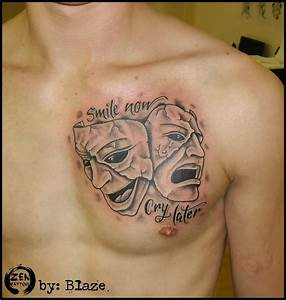 Smile now cry later tattoo by bLazeovsKy on DeviantArt