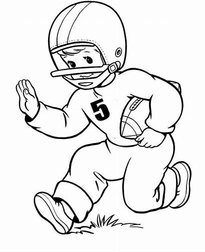 Coloring Pages Football Player Nfl Number Playing