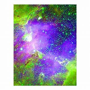 purple and green Galaxy Nebula space image. Letterhead ...