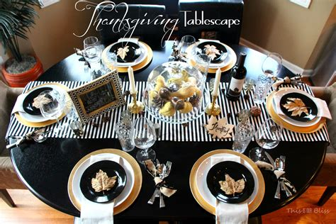 4th Of July Cake Decorating Ideas by Modern Thanksgiving Tablescape Black White Amp Gold Modern