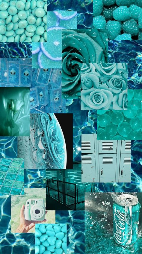 aquamarine aesthetic patterns wallpaper teal