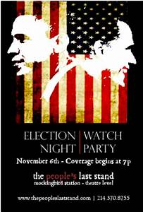 The People's Last Stand Hosts Election Night Watch Party ...
