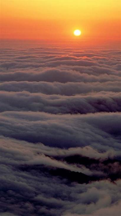 Iphone Sunset Clouds Cloud Wallpapers Waves Plus