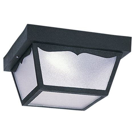 sea gull lighting 79121ble 12 black outdoor ceiling 1