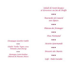 exemple de menu de mariage voici exemple menu mariage quotes