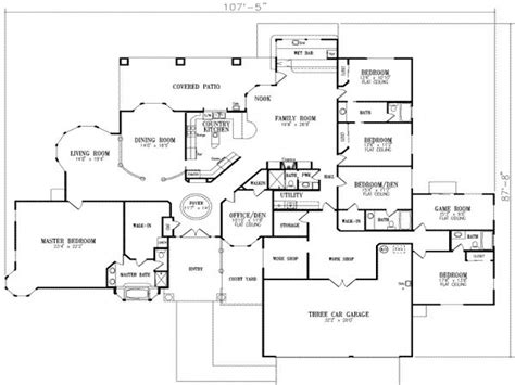 5 bedroom floor plans 2 5 bedroom house floor plans 2 house modern 5