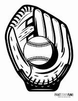 Baseball Coloring Pages Mitt Gear sketch template