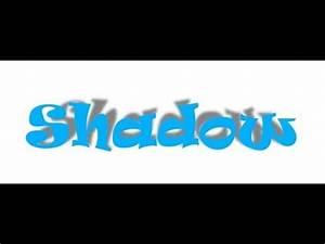 photoshop cs6 shadow text effect tutorial - YouTube