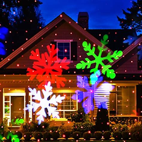 christmas light show projector christmas laser light newest version ucharge snowflake