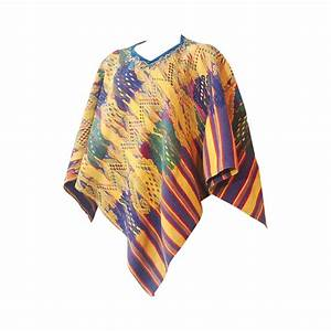1960s Traditional Colorful Woven Cotton Poncho For Sale at ...