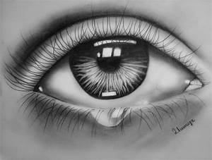 Eye Tears Drawing
