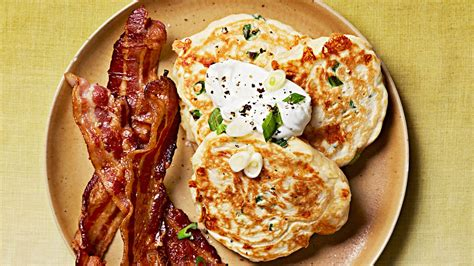 cheddar  scallion savory pancakes