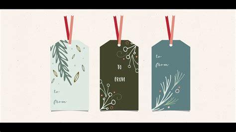 design holiday gift tags  adobe illustrator youtube