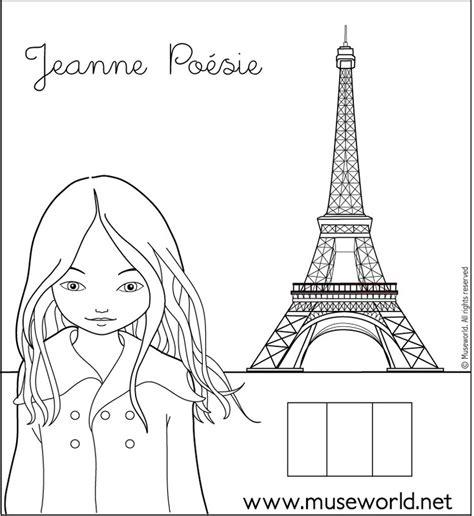 coloriage de jeanne poesie dessin jeanne paris  colorier