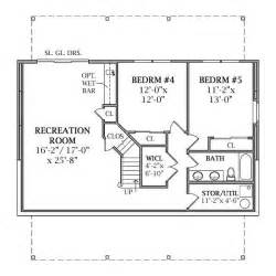 2 bedroom house plans with basement lakeview 2804 3 bedrooms and 2 baths the house designers