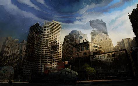 destroyed city background wallpapersafari