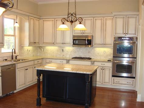 White And Black Distressed Cabinets  Home Decor