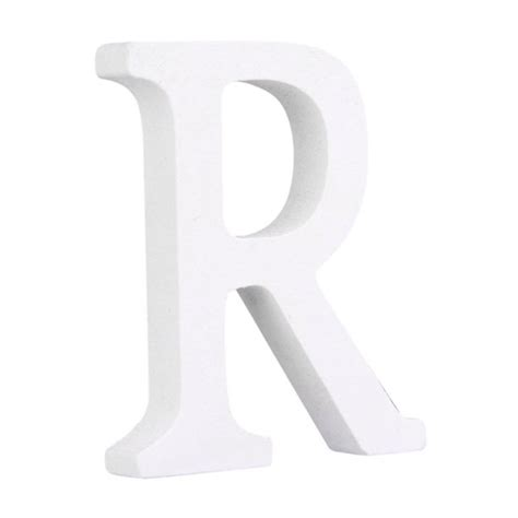 One more hint…make sure all the letters are facing the right direction before you glue them in place! Decorative White Wood Letters Hanging Wall 26 Letters Ornaments Wooden Alphabet Wall Letter for ...
