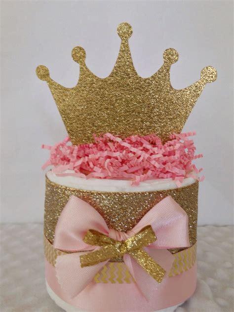 Mini Princess Pink And Gold Diaper Cakes Princess Theme
