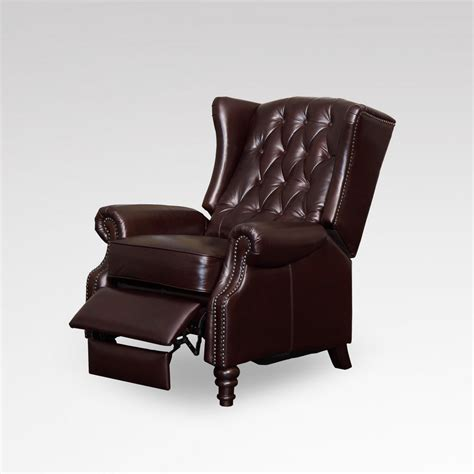 how upholstered wing chair recliner