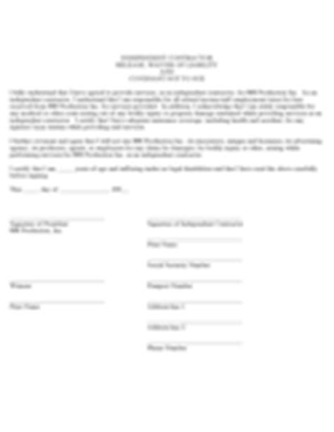 waiver form   templates   word excel