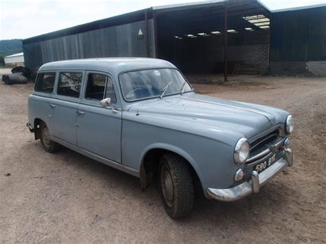 Peugeot 403 For Sale by 1961 Peugeot 403 Estate Rhd Sold Car And Classic