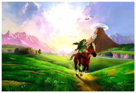 Ocarina of time 3d makes use of both the original ocarina of time (oot) and the wind waker (tww) hylian writing systems. Ocarina of Time 3D Hyrule Field - Poster 13x19 | Legend of zelda, Ocarina of time, Zelda art