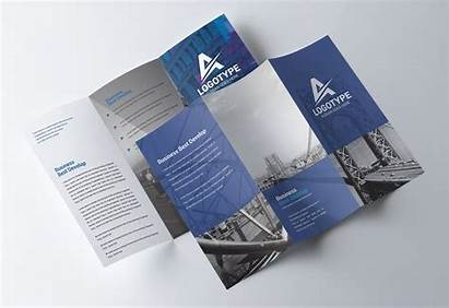 Brochure Template Psd Fold Tri Flyer Trifold