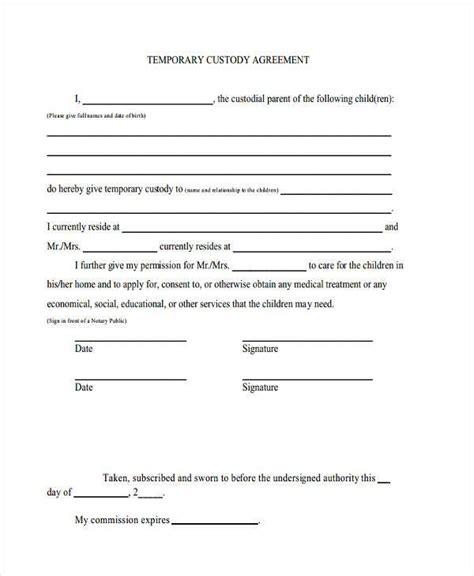temporary custody agreement parents gtld world congress