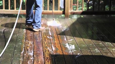 cleaning wood deck with revitalizing a pressure treated wood deck pt 1