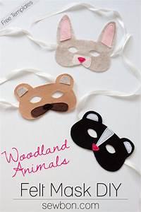 woodland animal felt masks diy and free templates at With woodland animal masks template