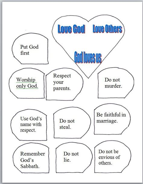 10 commandments printable for ccd ten 10 | bf99d4d5831ce6ad04ffeb163bd2e5ec easy crafts for kids crafts for children