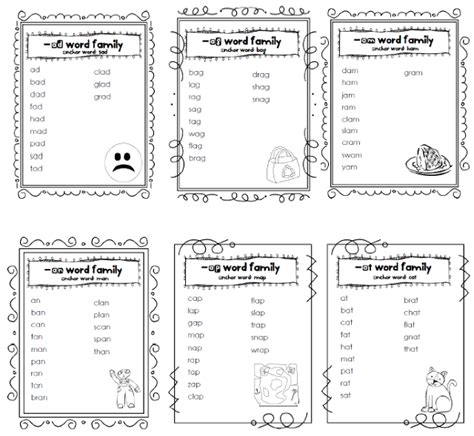 word families worksheets year 3 word work word family lists and worksheets reading and