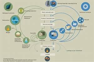 Circular Economy Diagram Of Material Flows