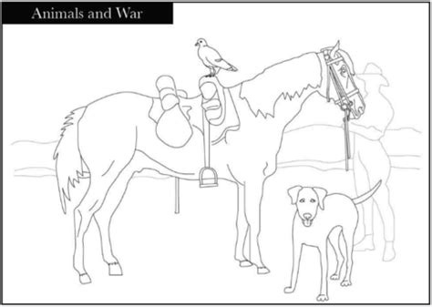animals  war coloring page  printable coloring pages