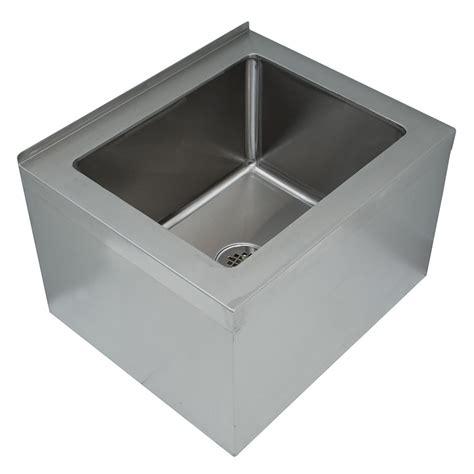 advance tabco 9 op 40 floor mount mop sink w 12 quot d bowl tile edge