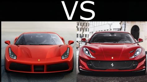 Ferrari 812 superfast officially announced to public. Ferrari 812 Superfast vs Ferrari 488 GTB - YouTube