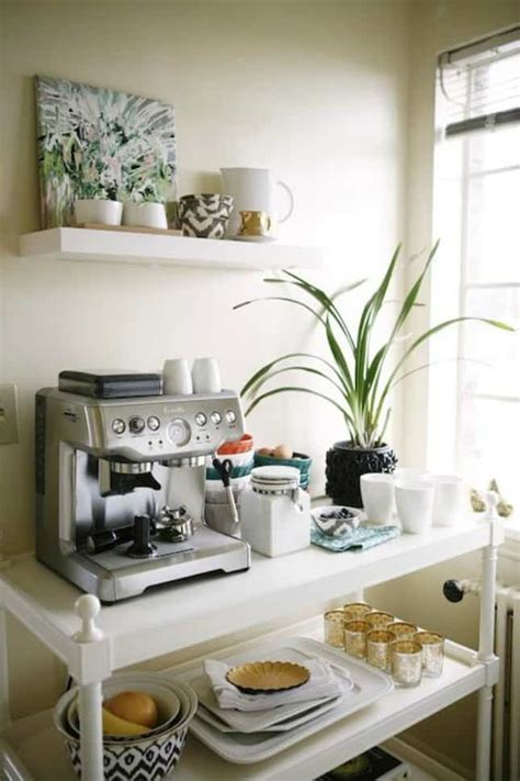 Decorating a home coffee bar requires a deft touch. 49 Exceptional DIY Coffee Bar Ideas for Your Cozy Home   Homesthetics - Inspiring ideas for your ...