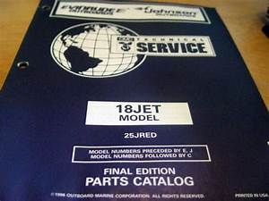 Evinrude Johnson 18jet Hp 25jred Parts Manual 1996 Omc