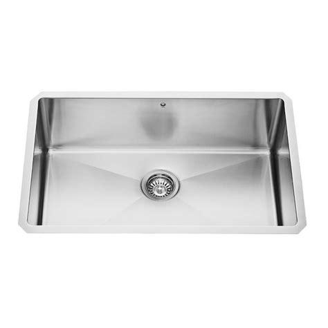 16 gauge stainless steel sink vigo stainless steel undermount single bowl sink 30 inch