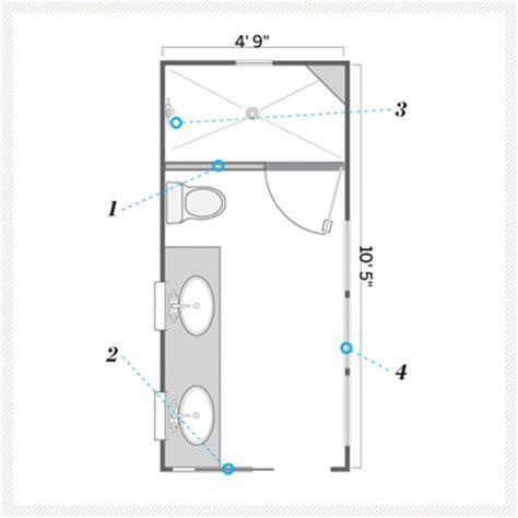 Floor Plan After  A Bath That's Still Narrow, But