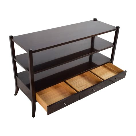 sofa table with storage 77 off baker baker sofa side table storage