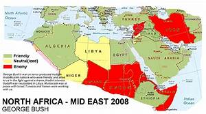 Map of the results of Obama's foreign policy in North ...