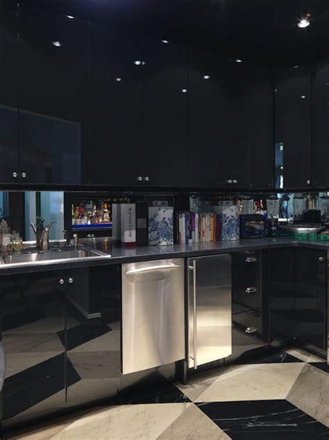 Black Lacquer Cabinets - Contemporary - kitchen - Miles Redd