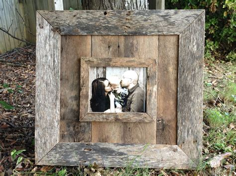 natural  barn wood picture frame   etsy