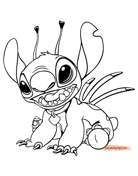 lilo  stitch printable coloring pages disney  world